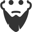 long, Beard DarkSlateGray icon