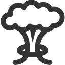 Cloud, Mushroom DarkSlateGray icon