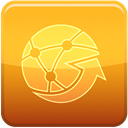 Blue, globe Goldenrod icon