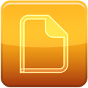File, sheet, Empty Goldenrod icon