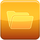 Folder, Closed Goldenrod icon