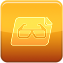 Glasses, File Goldenrod icon