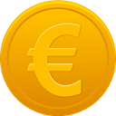 Euro, coin Orange icon