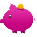 piggy, Bank MediumVioletRed icon