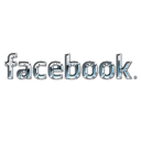 Facebook, metal, liquid Black icon