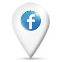location, Facebook, Map Black icon