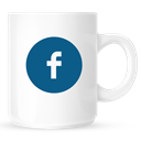 Facebook, Coffee, mug WhiteSmoke icon