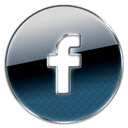 Circle, button, Facebook DarkSlateGray icon