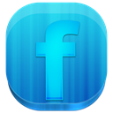 Block, Facebook, rounded DodgerBlue icon