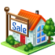 sale, house Black icon