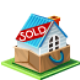 house, sold Black icon