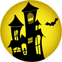 haunted, house Gold icon