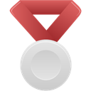 red, silver, metal Black icon
