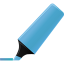 Blue, highlightmarker Black icon