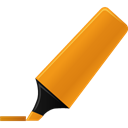 highlightmarker, Orange Black icon