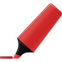 red, highlightmarker Black icon