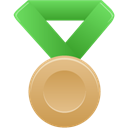 bronze, metal, green Black icon