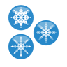 Snow, christmas, flak SteelBlue icon
