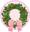 wreath, christmas DeepPink icon