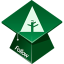 Forrst DarkGreen icon