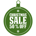 off, christmas, sale DarkOliveGreen icon