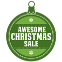 Awesome, sale, christmas DarkOliveGreen icon