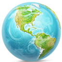 earth SkyBlue icon