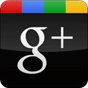 Black, Gloss, Googleplus Black icon