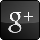 Black, custom, Googleplus, Gloss DarkSlateGray icon