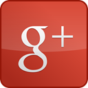 custom, red, Gloss, Googleplus IndianRed icon