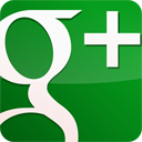 Googleplus, Gloss, green ForestGreen icon