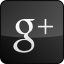 Black, Googleplus, Gloss, custom DarkSlateGray icon