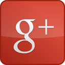 Googleplus, Gloss, red, custom IndianRed icon
