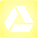 Box, glowing, drive, yellow, light, google PaleGoldenrod icon