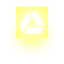 yellow, drive, glow, light, google Khaki icon