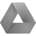original, Dark, google, drive, gray Gray icon