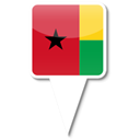 Bissau, guinea Black icon