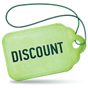 Discount Black icon