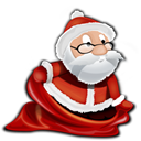 santa, instatuts Black icon
