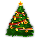 christmas, Tree, instatuts Black icon