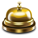 hotelbell Black icon