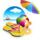 sunsetbeach Black icon