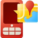 Map, Mobile Maroon icon