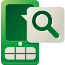 Mobile, search DarkGreen icon