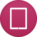 ipad MediumVioletRed icon