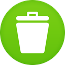 Trash YellowGreen icon