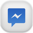Facebook, Messenger Gainsboro icon