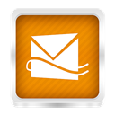 Hotmail DarkOrange icon