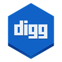 Digg RoyalBlue icon