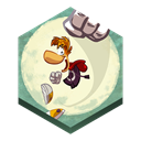 jungle, rayman, Run Black icon